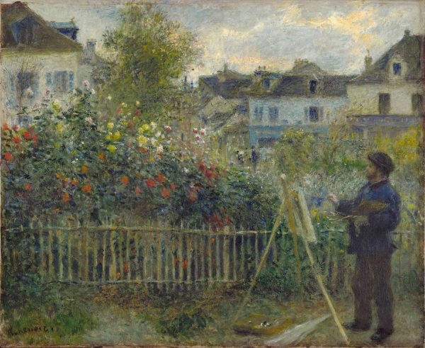 Auguste Renoir - Monet Painting in His Garden at Argenteuil (1873) Wadsworth Atheneum Museum of Art, Hartford, CT. Bequest of Anne Parrish Titzell. Photo (c) Wadsworth Atheneum Museum of Art, Hartford, CT