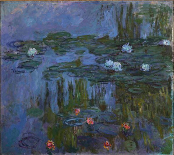 Nympheas (Waterlilies) (1914-15) by Claude Monet. Portland Art Museum, Oregon. Museum Purchase: Helen Thurston Ayer Fund, 59.16. Photo (c) Portland Art Museum, Portland, Oregon