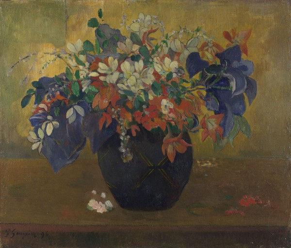 A Vase of Flowers by Paul Gauguin (1896) © The National Gallery, London (NG 3289)