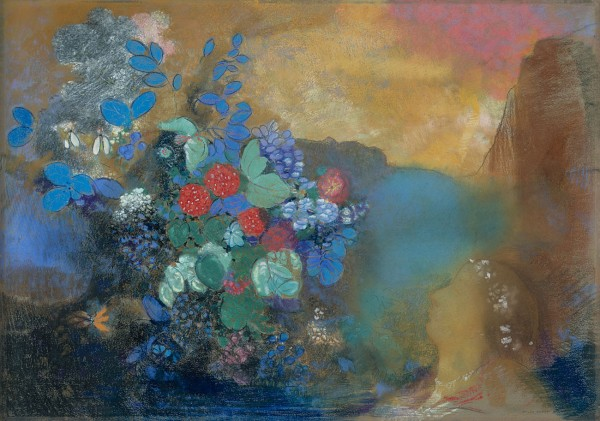 Ophelia among the Flowers by Odilon Redon (about 1905-8) © The National Gallery, London, Bought with a contribution from The Art Fund, 1977 (NG 6438)