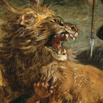 Detail from Lion Hunt by Eugène Delacroix (1861) © The Art Institute of Chicago, Illinois Potter Palmer Collection, 1922.404