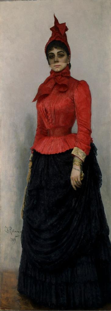 Baroness Varvara Ikskul von Hildenbandt by Ilia Repin (1889) © State Tretyakov Gallery, Moscow