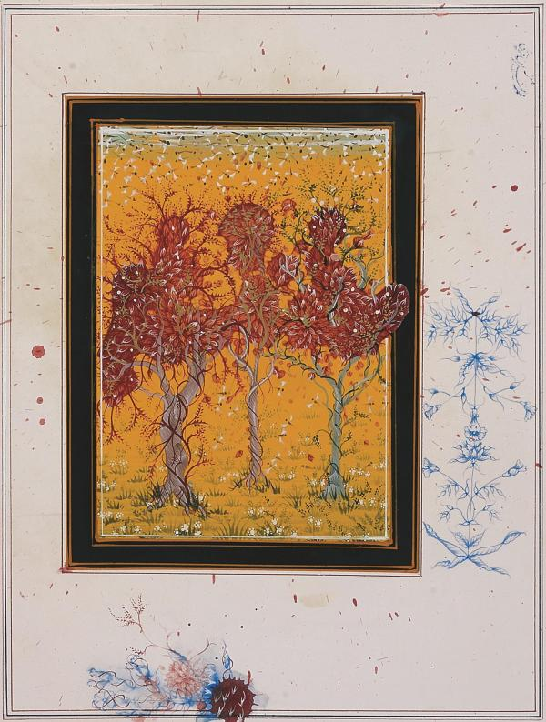 And Will There Be A Spring When The Garden is Unblighted by Imran Qureshi (2014)Private Collection (Hong Kong)