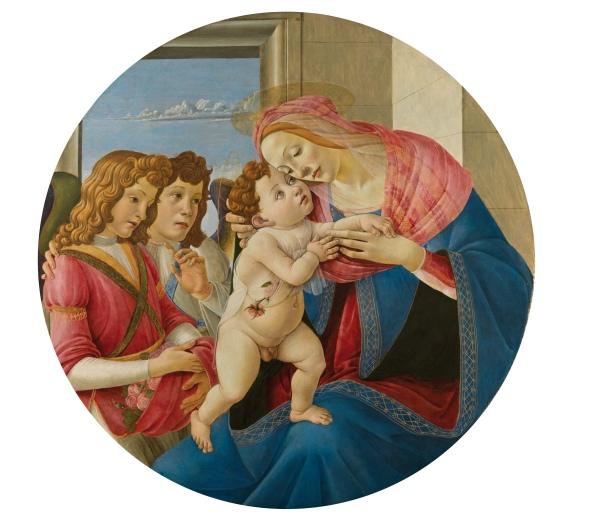 The Virgin and Child with Two Angels by Sandro Botticelli (c.1490) Gemäldegalerie der Akademie der Bildenden Künste Vienna . Image courtesy Gemäldegalerie der Akademie der Bildenden Künste Vienna .
