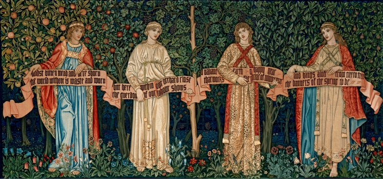 The Orchard by William Morris (1890) V&A. John Henry Dearle, Morris & Co (c) Victoria and Albert Museum, London.