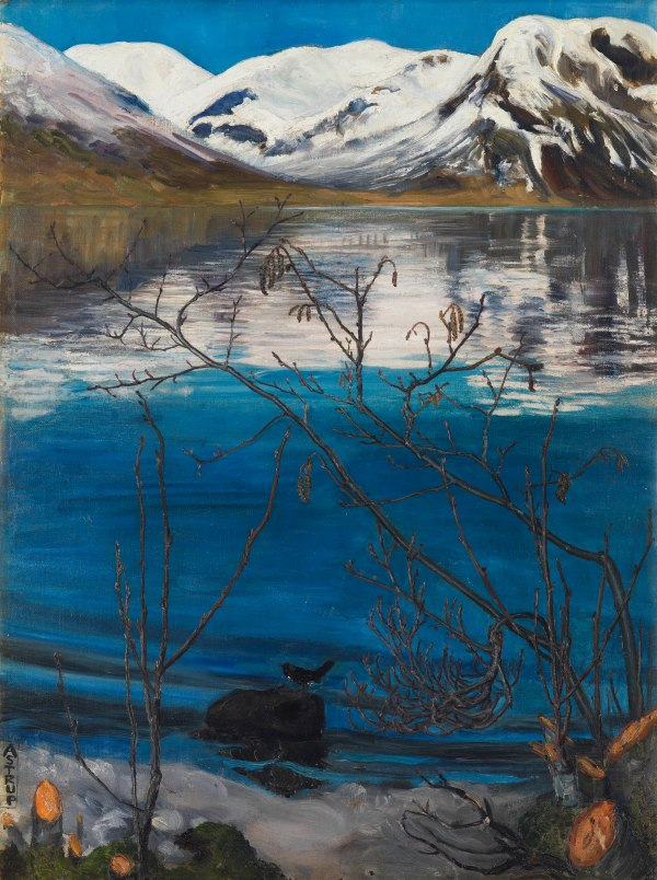March Atmosphere at Jølstravatnet by Nikolai Astrup (Before 1908) Private Collection, Oslo. Photo © Anders Bergersen