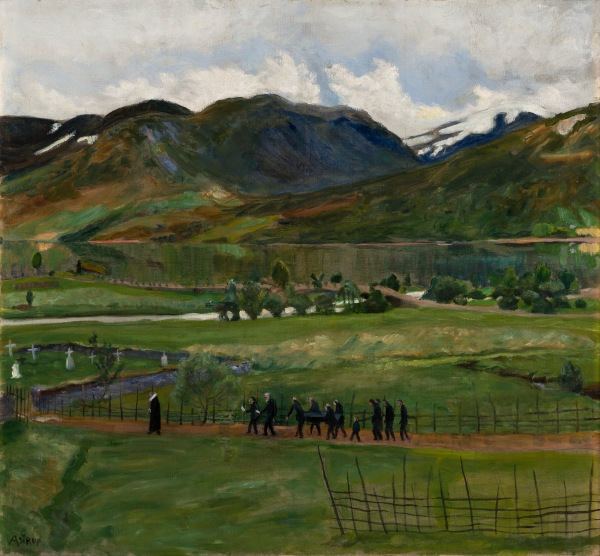 Funeral Day in Jølster by Nikolai Astrup (Before 1908) The Savings Bank Foundation DNB/The Astrup Collection/KODE Art Museums of Bergen. Photo © Dag Fosse/KODE