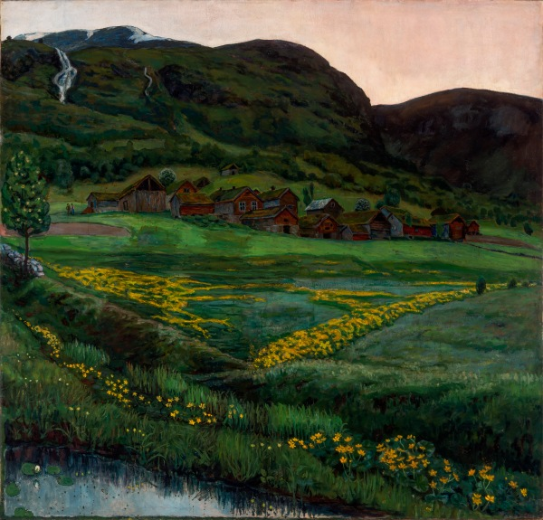 A Clear Night in June by Nikolai Astrup (1905-1907) The Savings Bank Foundation DNB/The Astrup Collection/KODE Art Museums of Bergen.Photo © Dag Fosse/KODE