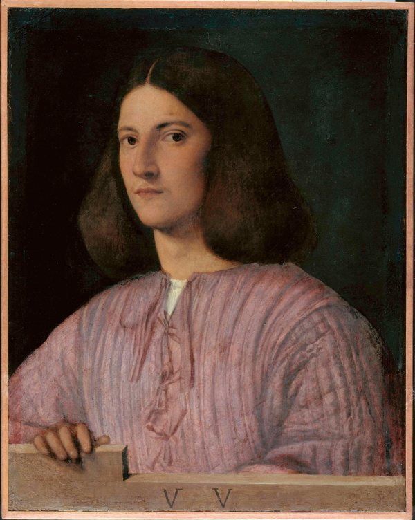 Portrait of a Young Man ('Giustiniani Portrait') by Giorgione. Gemaldegalerie, Staatliche Museen zu Berlin, Preubischer Kulturbesitz. Photo (c) Jorg P. Anders