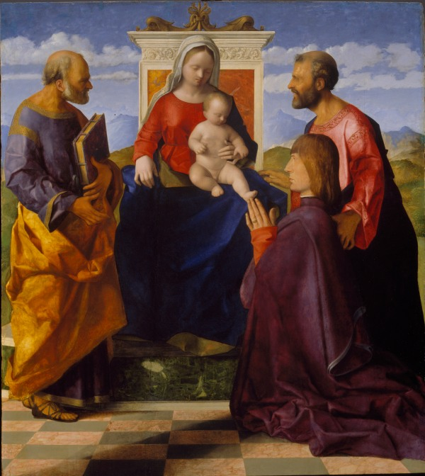 Virgin and Child with Saint Peter, Saint Mark and a Donor by Giovanni Bellini. Birmingham Museum and Art Gallery. Photo (c) Birmingham Museums