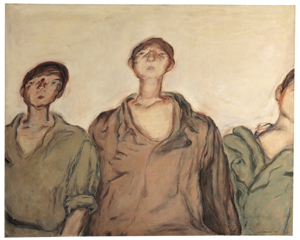 The Three Palestinian Boys by Marwan Kassab Bachi (1970) Barjeel Art Foundation, Sharjah