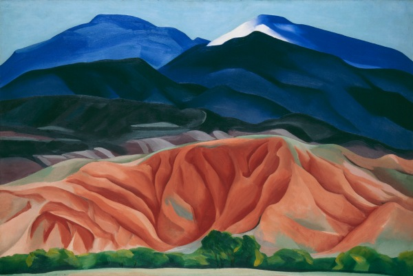 Black Mesa Landscape, New Mexico / Out Back of Marie's II by Georgia O'Keeffe (1930) Georgia O'Keeffe Museum. Gift of The Burnett Foundation © Georgia O'Keeffe Museum