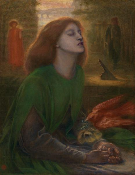 Beata Beatrix (c. 1864-70) by Dante Gabriel Rossetti. Tate.