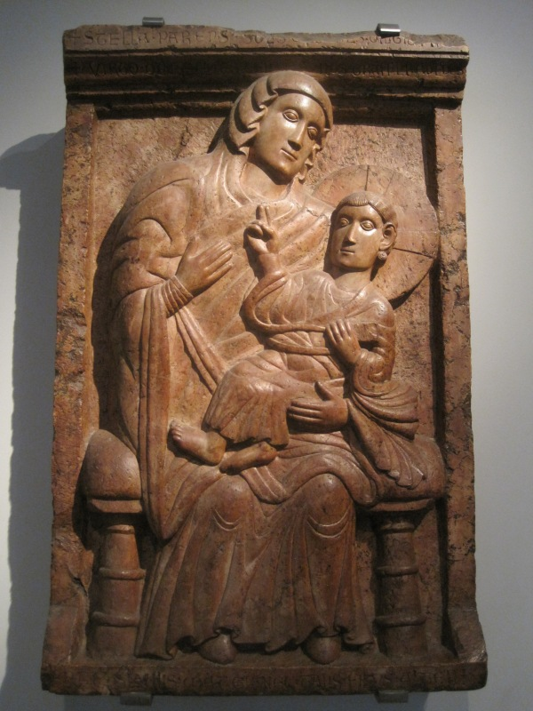 12th century Madonna and child