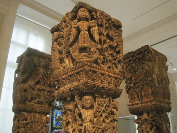 11th century carved wooden columns and capitals