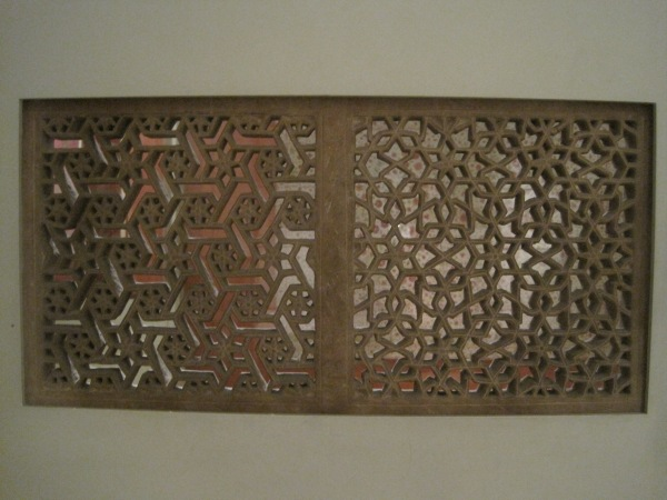 Islamic wooden carved screen
