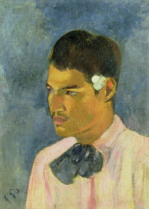 Young Man with a Flower behind his Ear by Paul Gauguin (1891) Property from a distinguished Private Collection, courtesy of Christie's. Photo © Christie's Images / Bridgeman Images