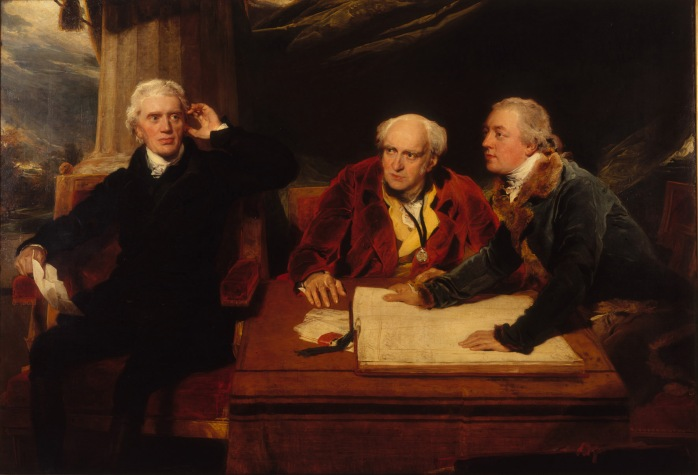 Sir Francis Baring, 1st Baronet, John Baring, and Charles Wall by Sir Thomas Lawrence (1806-1807) Private collection © Photo courtesy of the owner