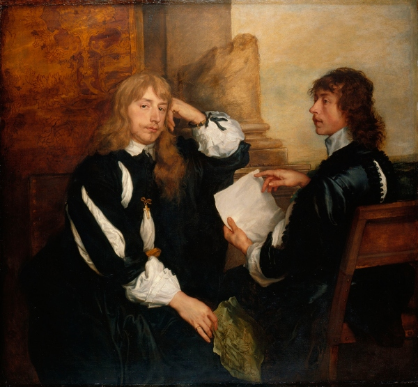 Thomas Killigrew and William, Lord Crofts (?), 1638 by Anthony van Dyck. © Her Majesty Queen Elizabeth II 2016