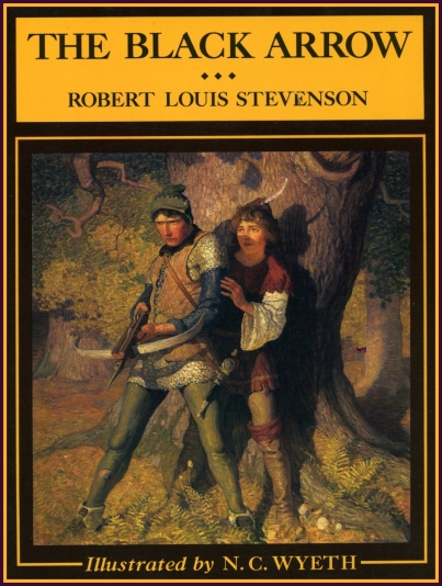 Cover of The Black Arrow illustrated by N.C. Wyeth