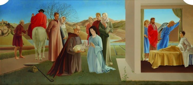 Scenes from The Life of Saint Martin of Tours by Winifred Knights (c.1928-33) Milner Memorial Chapel, Canterbury Cathedral. Reproduced courtesy of the Dean and Chapter, Canterbury Cathedral. © The Estate of Winifred Knights