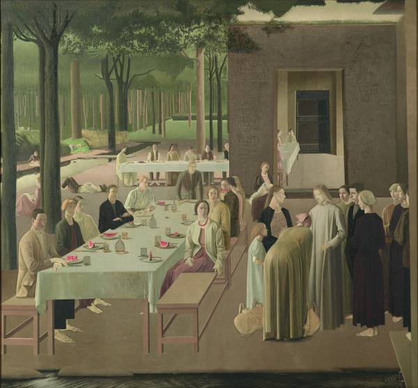 The Marriage at Cana by Winifred Knights (1923) Oil on canvas. Collection of the Museum of New Zealand Te Papa Tongarewa. Gift of the British School at Rome, London, 1957. © The Estate of Winifred Knights
