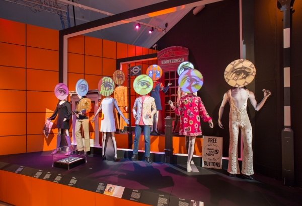 Swinging London installation. Photo © Victoria and Albert Museum, London