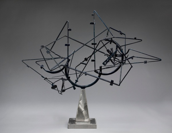 Star Cage by David Smith (1950) Painted and brushed steel. Lent by the Frederick R. Weisman Art Museum, University of Minnesota, Minneapolis. The John Rood Sculpture Collection. © Estate of David Smith/DACS, London/VAGA, New York 2016.