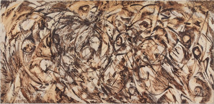 The Eye is the First Circle by Lee Krasner (1960) Private collection, courtesy Robert Miller Gallery, New York © ARS, NY and DACS, London 2016.