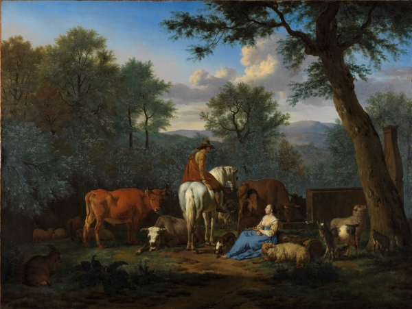Landscape with cattle and figures by Adriaen van de Velde (1664) © Fitzwilliam Museum, Cambridge