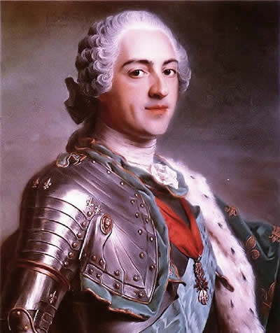 Louis XV, by Maurice Quentin de La Tour (1748)