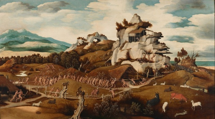 Landscape with an Episode from the Conquest of America by Jan Mostaert (c. 1535)