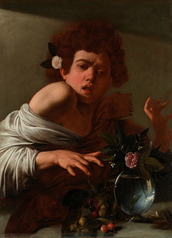 Boy bitten by a Lizard by Michelangelo Merisi da Caravaggio (About 1594-5) © The National Gallery, London