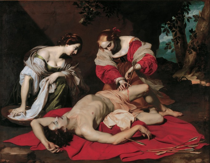 Saint Sebastian tended by the Holy Irene and her Servant by Nicolas Régnier (about 1626-30) © Ferens Art Gallery, Hull Museums