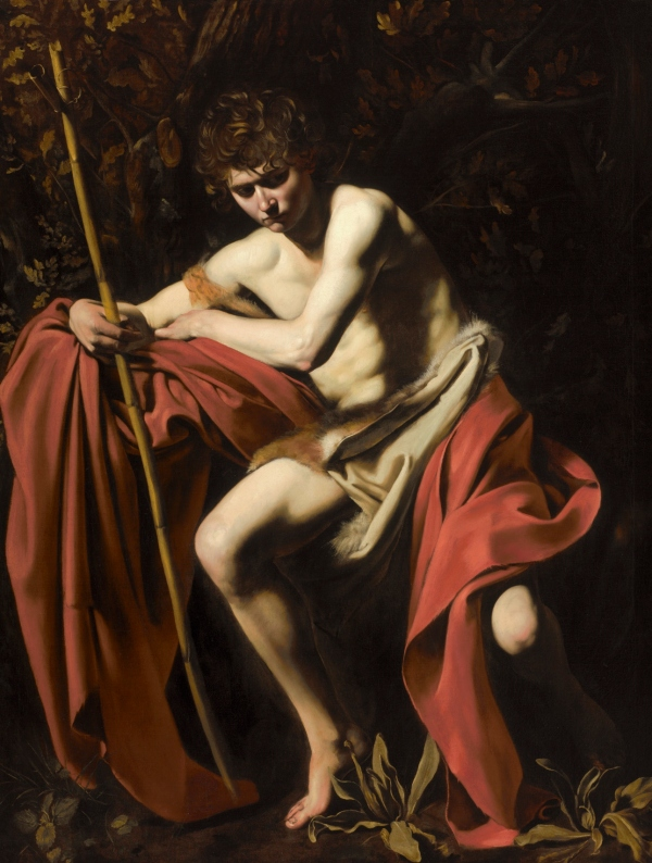 Saint John the Baptist in the Wilderness Michelangelo Merisi da Caravaggio (about 1603-4) Photo Jamison Miller © The Nelson - Atkins Museum of Art, Kansas City, Missouri