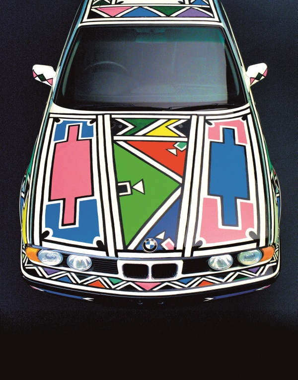 BMW Art Car 12 (1991( by Esther Mahlangu (b. 1935) © Esther Mahlangu. Photo © BMW Group Archives