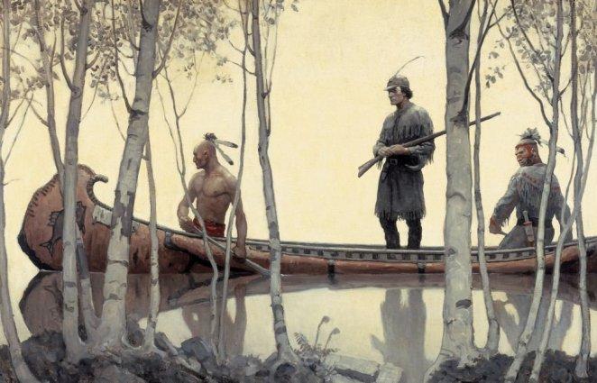 Hawkeye and his Indians by N.C. Wyeth