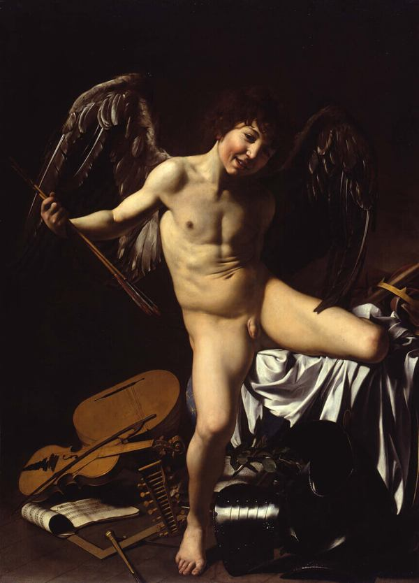 Amor Vincit Omnia by Michelangelo Merisi da Caravaggio (1602)