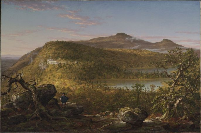 A View of the Two Lakes and Mountain House, Catskill Mountains, Morning by Thomas Cole (c. 1844)
