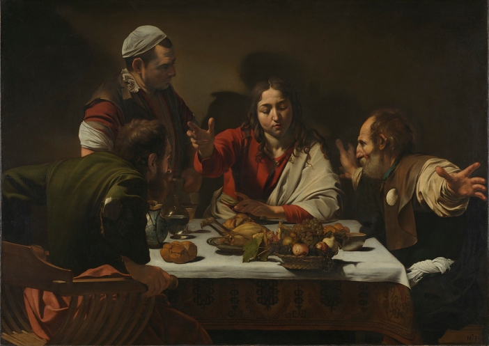 The Supper at Emmaus by Michelangelo Merisi da Caravaggio (1601) © The National Gallery, London