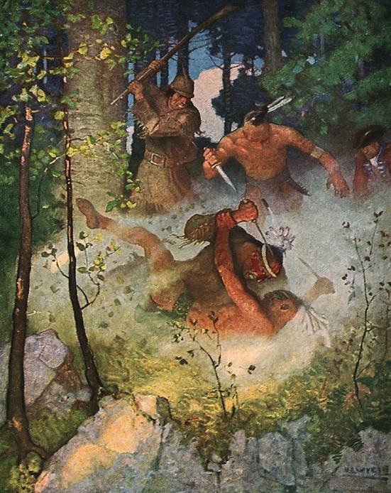 Fighting Indians by N.C. Wyeth