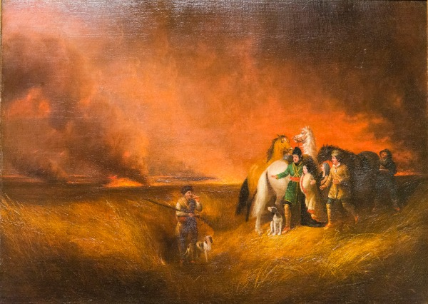 The Prairie on Fire by Alvan Fisher (1827)