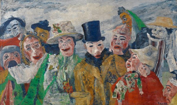 The Intrigue by James Ensor (1890) Antwerp, Koninklijk Museum voor Schone Kunsten. Photo KMSKA © www.lukasweb.be - Art in Flanders vzw. Photography: Hugo Maertens / © DACS 2016