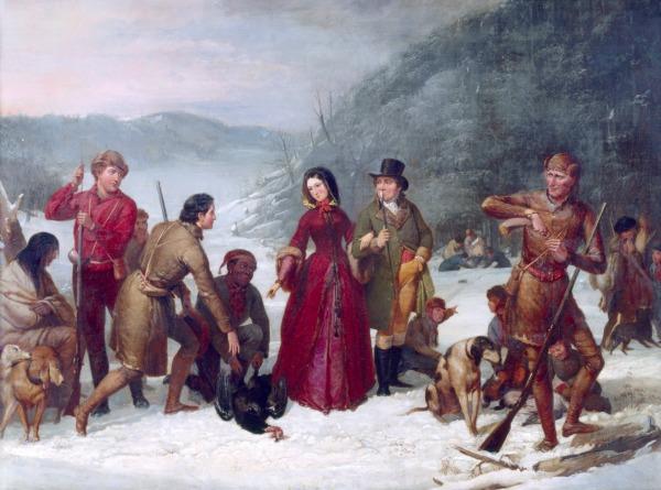 The Turkey Shoot by Tompkins Harrison Matteson (1857)