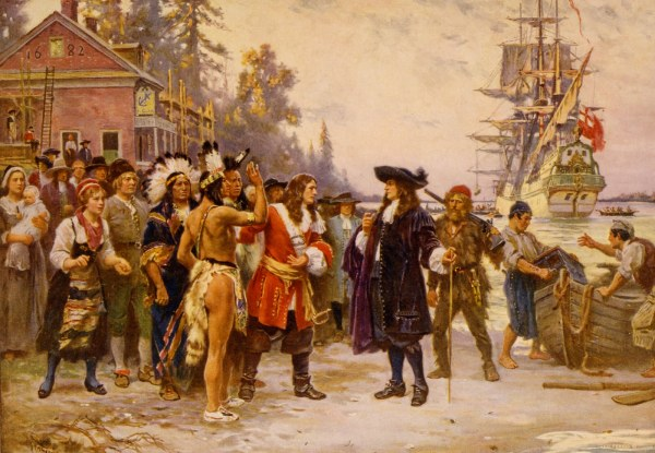 The landing of William Penn in 1682 by J.L.G. Ferris