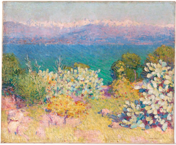 In the Morning, Alpes Maritimes from Antibes by John Russell (1890-1) © National Gallery of Australia, Canberra