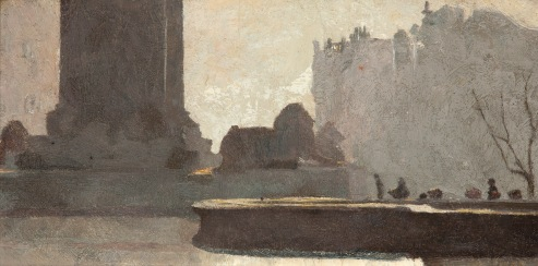 Trafalgar Square (1904) by Tom Roberts © Art Gallery of South Australia, Adelaide