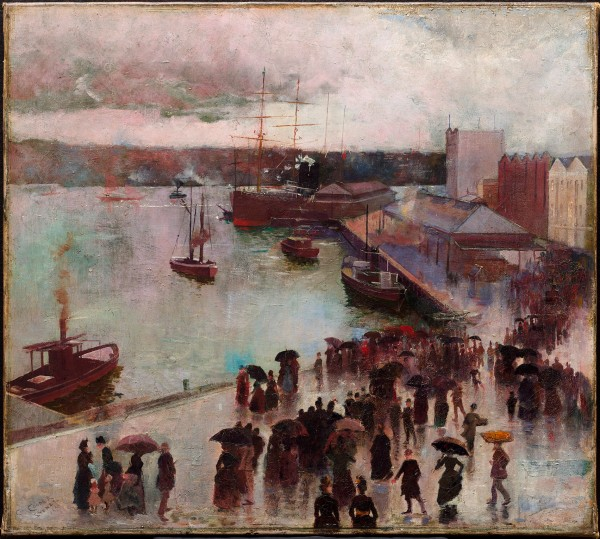 Departure of the Orient – Circular Quay by Charles Conder (1888) © Art Gallery of New South Wales, Sydney