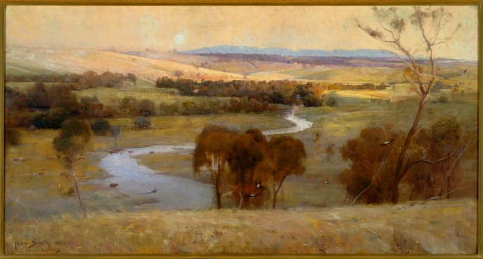'Still glides the stream, and shall for ever glide' (1890) by Arthur Streeton © Art Gallery of New South Wales, Sydney