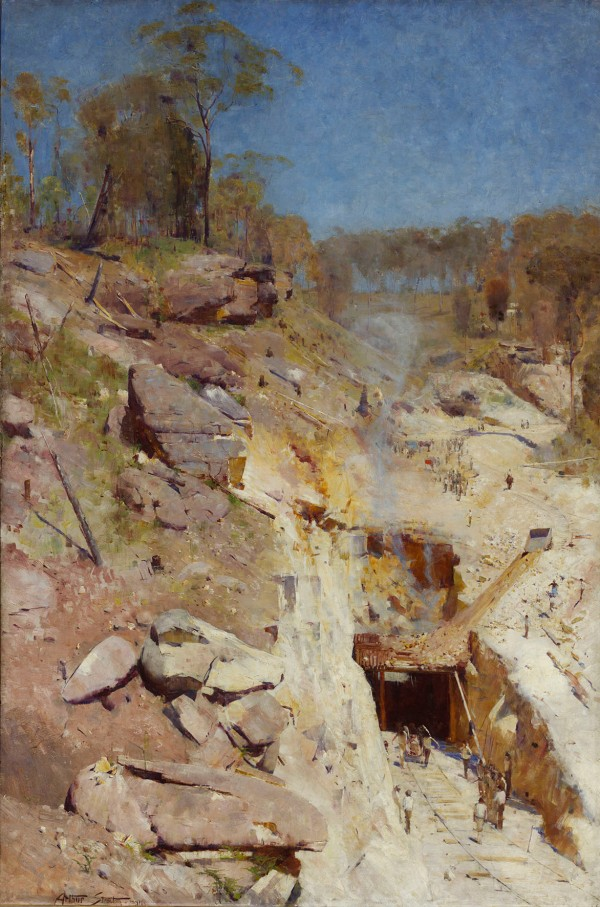 Fire's On by Arthur Streeton (1891) © Art Gallery of New South Wales, Sydney